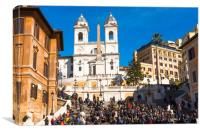 The Spanish Steps (Scalinata di Trinità dei Monti), Canvas Print