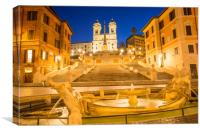 The Spanish Steps at dawn, Canvas Print