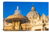 Bernini's fountains at St. Peter's square, Canvas Print
