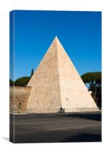 The Pyramid of Cestius, Canvas Print