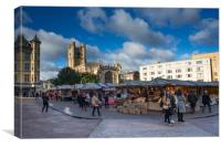 Market Square and Great St Marys Church, Canvas Print