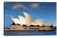 Ferry goes past the Sydney Opera House , Canvas Print
