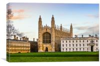 Kings College chapel in late evening light, Canvas Print