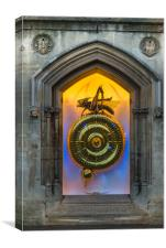 Corpus Christi Clock with the Chronophage , Canvas Print