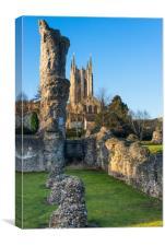 Bury St Edmunds Abbey, Canvas Print