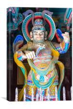 Temple guard at Pulguksa temple, Canvas Print