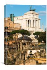 Monument to Vittorio Emanuele II, Canvas Print