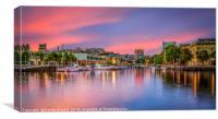 Purple Harbour , Canvas Print