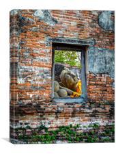 Window to buddha, Canvas Print