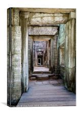 Repeating doorways in ruin, Canvas Print