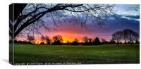 Sunrise over Bristol Downs, Canvas Print