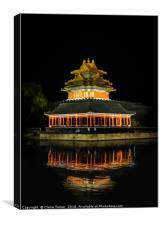Forbidden city moat, Canvas Print