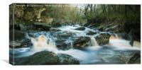 Burntollet flows over rocks , Canvas Print