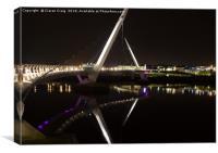 Peace Bridge at Night , Canvas Print