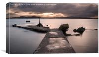 Buncrana Pier , Canvas Print