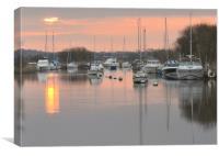 Wareham quay sunrise, Canvas Print