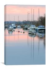 River Frome sunrise., Canvas Print