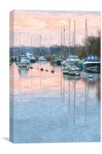Digital 'oil painting' of Wareham Quay, Canvas Print