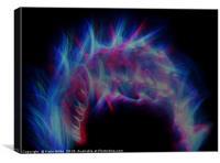 Colourful Fireball, Canvas Print