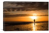 Running in the Worthing Sunset, Canvas Print