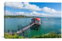 Old lifeboat station at Tenby Wales, Canvas Print