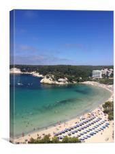 Cala Galdana Beach Menorca, Canvas Print