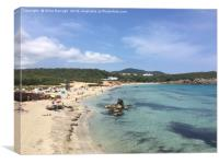 Cala Nova Beach View, Ibiza, Canvas Print