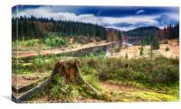 Overlooking Loch Drunkie, Canvas Print