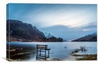 Waterlogged Bench, Loch Shiel, Canvas Print