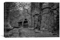 Almondell Country Park Shelter, Canvas Print