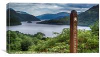 Loch Lomond from Cnap Mor, Canvas Print