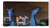 Kelpies Maquettes and the Falkirk Wheel, Canvas Print