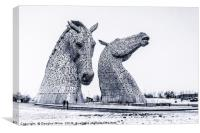 Kelpies in the Snow, Canvas Print