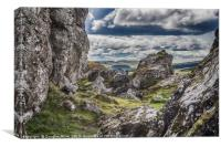 Rock Pinnacles, The Whangie, Canvas Print