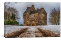 Midhope Castle (aka Lallybroch), West Lothian, Canvas Print