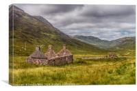 Tigh-na-sleubhaich, on the West Highland Way, Canvas Print