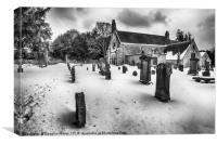 Abercorn Church in the Snow, Canvas Print