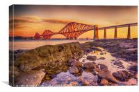 Sunrise over the Forth Bridge, Canvas Print