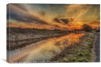 Sunset at the Union Canal, Canvas Print