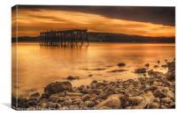 Carlingnose Pier, North Queensferry, Canvas Print