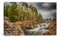 Easan Dubha Waterfall, Glen Orchy, Canvas Print