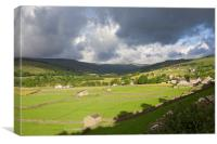 Storm coming over Gunnerside, Canvas Print