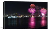 Fireworks over Liverpool, Canvas Print