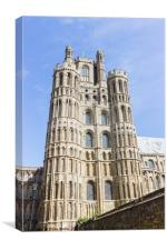The West Tower of Ely Cathredal, Canvas Print