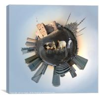 Little Planet Fujairah, U.A.E., Canvas Print