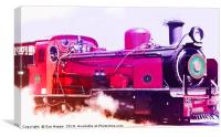 Vivid Steam Engine, Canvas Print