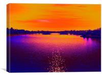 Bridge in Southport , Canvas Print