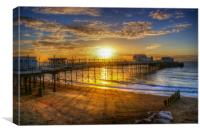 Sunrise at Worthing Pier , Canvas Print