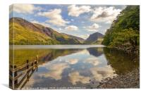 Buttermere looking to Fleetwith Pike, Canvas Print