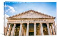 The Pantheon in Rome, Canvas Print